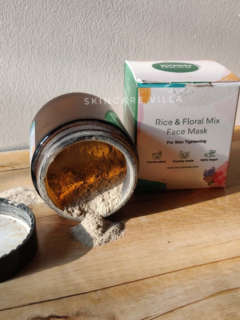 FOY Naturals Rice & Floral Mix Face Mask Review