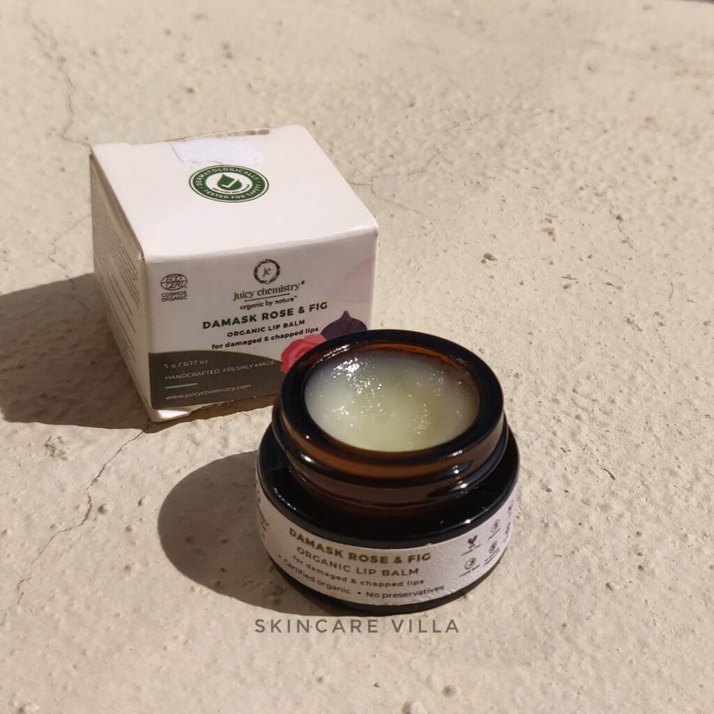 Juicy Chemistry Damask Rose & Fig Lip Balm Review