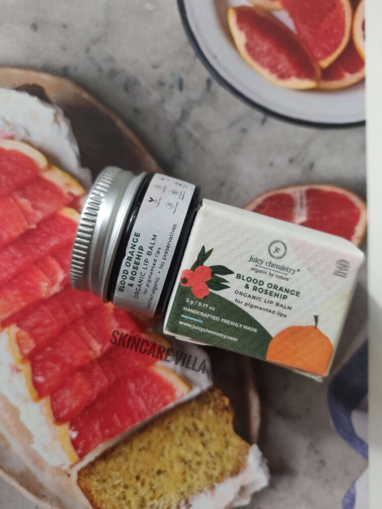 Juicy Chemistry Blood Orange and Rosehip Lip Balm Review