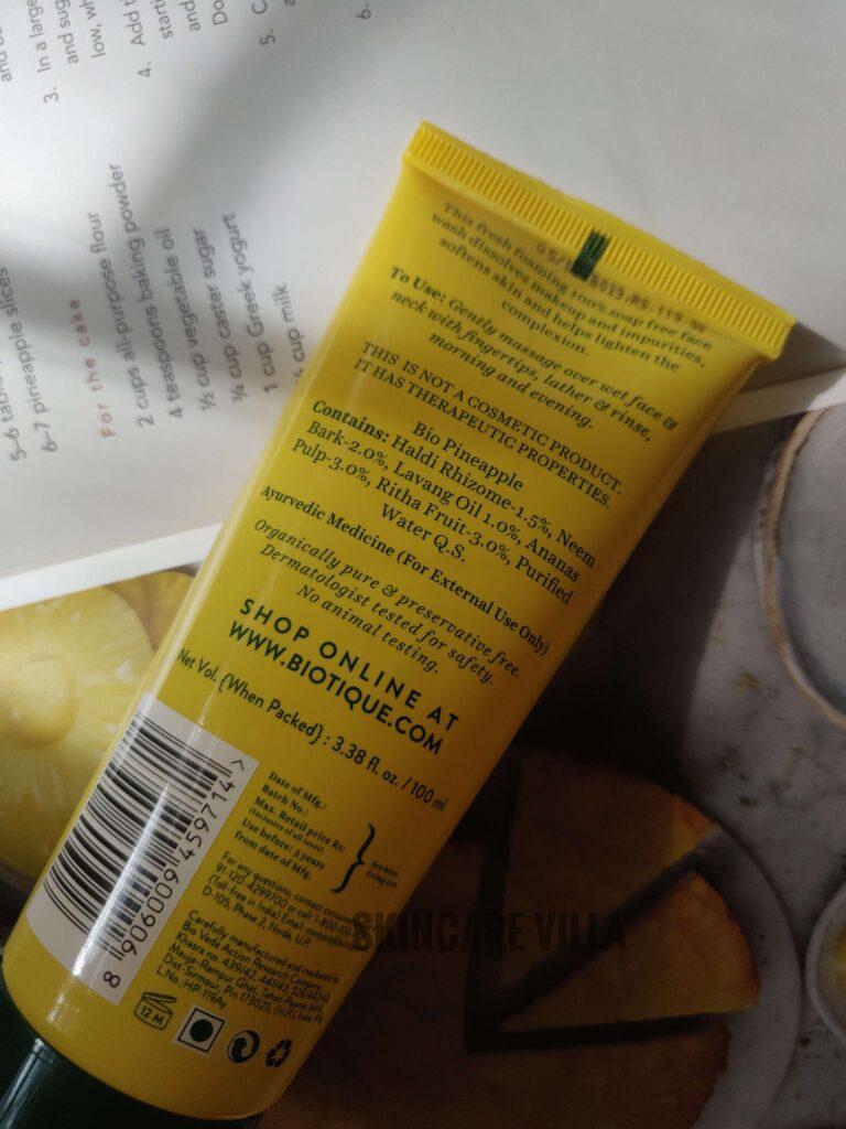 Biotique Bio Pineapple Oil Control Foaming Face Wash Review